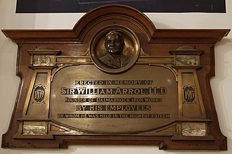 William Arrol - Memorial to Sir William Arrol, now on display in the Glasgow People's Palace