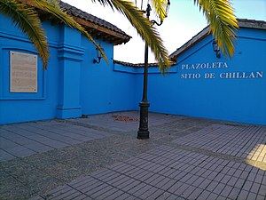 Siege of Chillán - Plaza marking the site of the Siege of Chillán