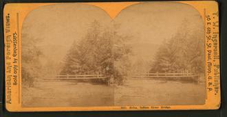 Indian River (Alaska) - An 1890 photograph of a bridge over Indian River