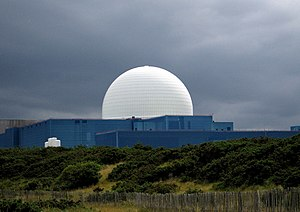 Sizewell nuclear power stations - Sizewell B reactor dome