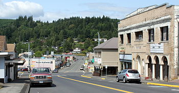 English: Skyline of Clatskanie, Oregon