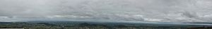 Slieve Gullion - 360 deg panorama of Ireland over Slieve Gullion