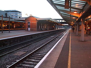 Slough railway station - Image: Slough station westbound