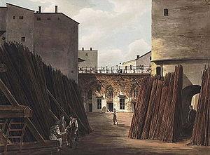 1820 in Sweden - Slussen Järnvågen Järngraven Julin 1820