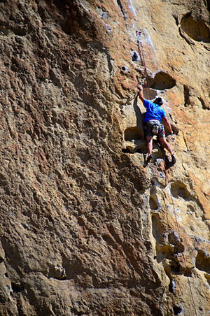 Face climbing - Image: Smith Rock Climber (Deschutes County, Oregon scenic images) (des DB1710)