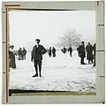 Snowy scene and ice skaters, early 1900s (2465709412).jpg