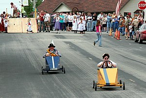 Go-kart - Soap Box Derby at a community celebration in Minnesota