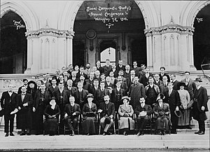 Social Democratic Party (New Zealand) - Group photo from the Social Democratic Party Annual Conference in Wellington, 1914.