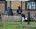 Social distancing Tottenham style for Coronavirus Covid-19 pandemic 2.jpg
