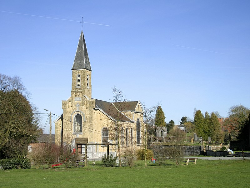 Sorée   (Belgium), the St. Martin church (1859-18600).