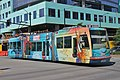 South Lake Union Streetcar 302 in Marvel wrap at Mercer Street.jpg