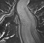 South Sawyer Glacier, tidewater glacier and hanging glaciers, August 24, 1963 (GLACIERS 5878).jpg