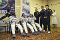 Soyuz TMA-01M Crew with backup crew.jpg