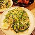 Spaghetti with fava beans, asparagus, spring onion, and lemon zest ソラマメとアスパラガス、新玉ねぎのスパゲッティにレモンゼストをかけて.jpg