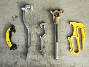 English: An assortment of spanner wrenches and...