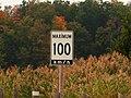 Speed Limit 100, Kings Highway 402, Warwick, Ontario (21652555320).jpg