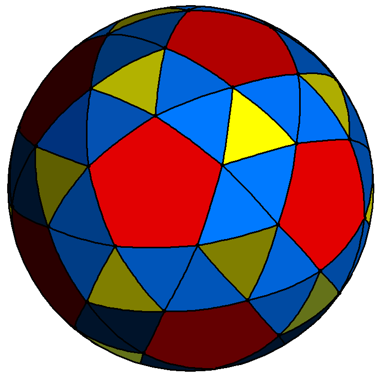 Spherical snub dodecahedron