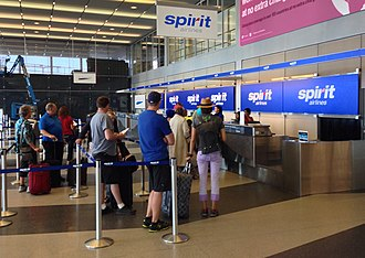 Spirit Airlines - Spirit Airlines check-in at O'Hare International Airport