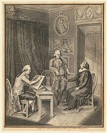 Bach mit Pastor Sturm, 1784 (Quelle: Wikimedia)