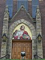 St. John's Catholic Church in Logan, entrance.jpg