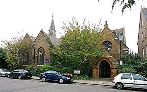 St Clement's Church, Notting Dale - Image: St Clement, Treadgold Street, Notting Dale London W11 geograph.org.uk 1548263