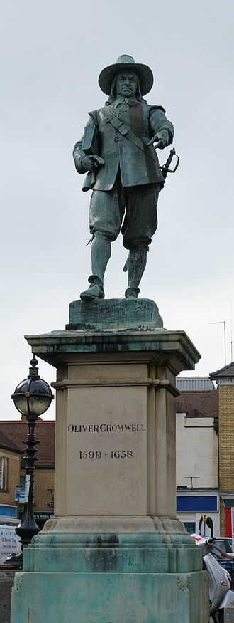 St Ives, Cambridgeshire - The Statue of Oliver Cromwell on Market Hill in the town centre