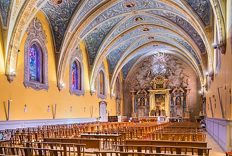 Interior of the Saint Martin church in Portet-sur-Garonne, Haute-Garonne, France