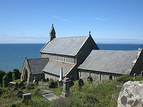 St Mary and St Bodfan Church, Llanaber south side.JPG
