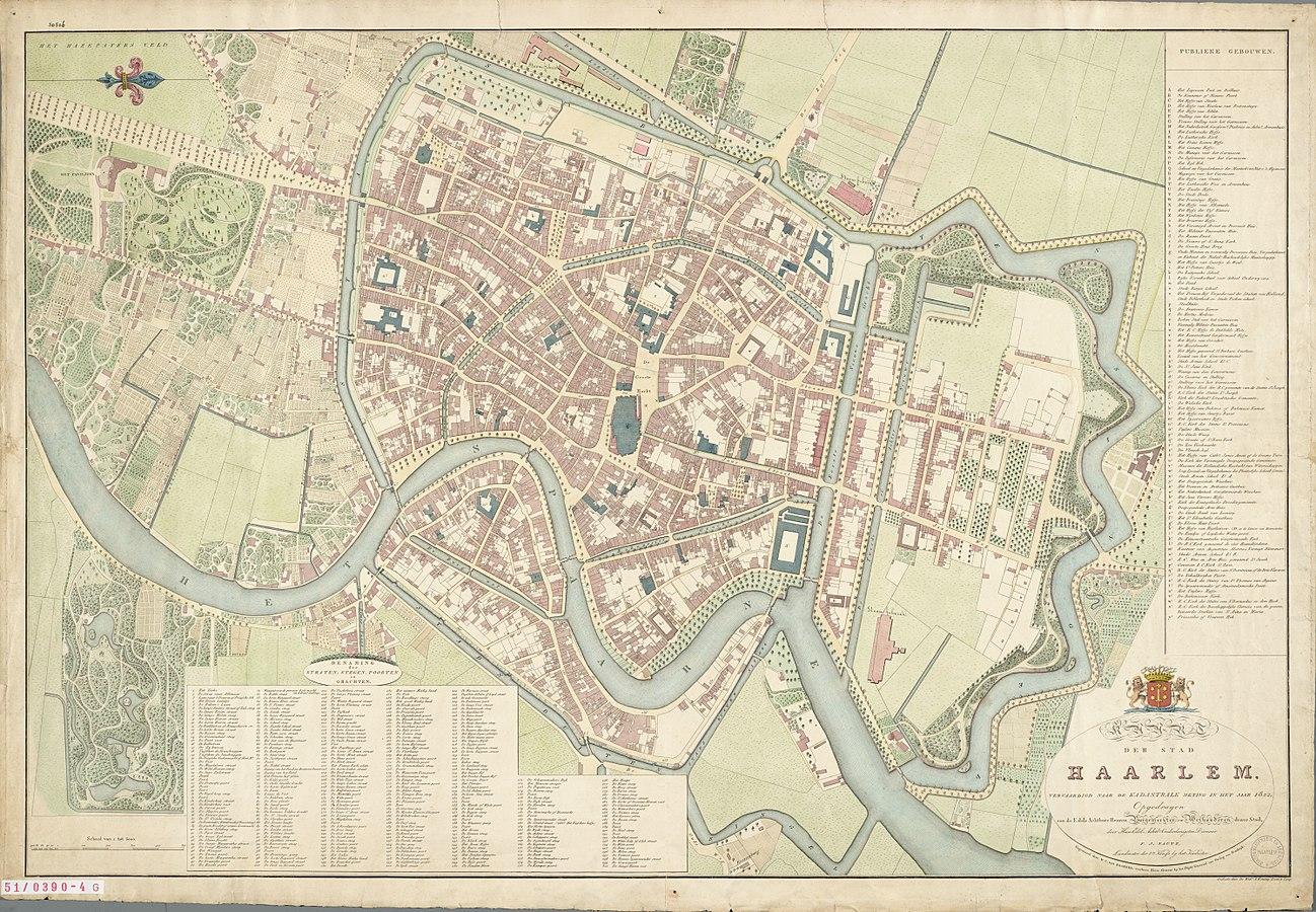 Haarlem map 1829
