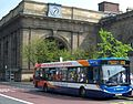 Stagecoach in Newcastle bus 27507 Alexander Dennis Enviro 300 NK05 JXF in Newcastle route 100 branding 25 April 2009.JPG