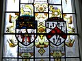Stained glass - Worshipful Company of Merchant Taylors and Worshipful Company of Grocers crests.jpg