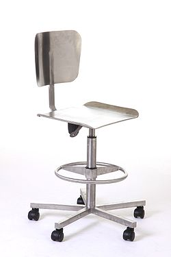 Stainless Steel Laboratory Pneumatic Chair with wheels.jpg