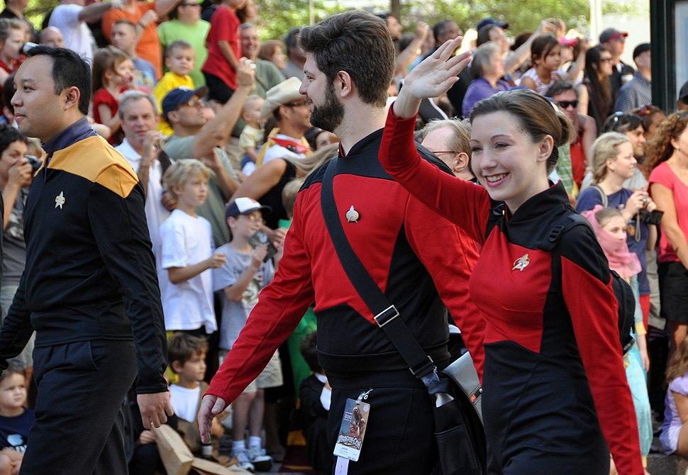 Star Trek cosplayers in Dragon Con Parade 2010