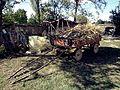 Stara zaprezna kola so pcenki vo selo Erekovci.jpg