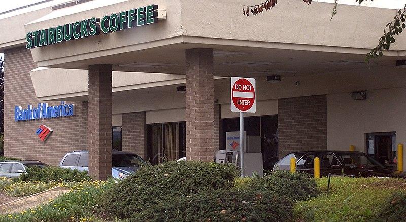 File:Starbucks and Bank of America Drive Through.jpg