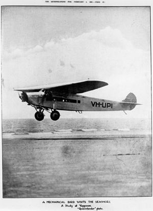 1933 Imperial Airways Ruysselede crash - An Avro Ten, similar to the accident aircraft.