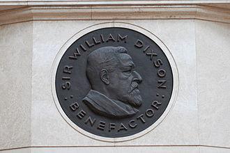 William Dixson - Portrait medallion of Sir William Dixson in the Mitchell Library
