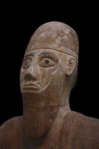 Statue of Idrimi - Detail of the head