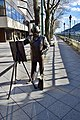 Statue of famous Hungarian painter Roskovics Ignac along the banks of Danube in Budapest, Hungary (Ank Kumar) 01.jpg