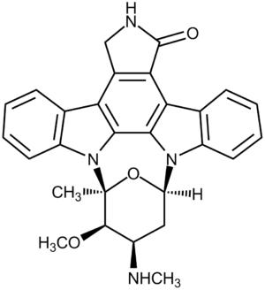 Indolocarbazole - Structural formula of staurosporine, the first indolocarbazole to be isolated