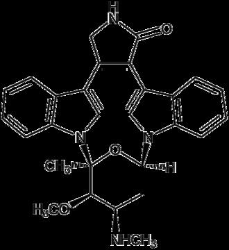 Indolocarbazole - Structural formula of staurosporine, the first indolocarbazole to be isolated