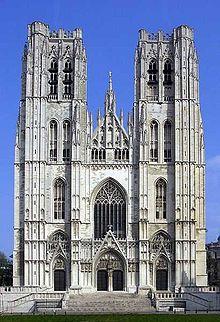 Die gotiese katedraal van brussel