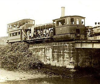 Manila Light Rail Transit System - Steam-powered tranvia that served Malabon and Tondo from 1888 to 1898.