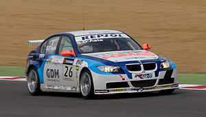 Stefano D'Aste - D'Aste driving for Scuderia Proteam Motorsport during the 2008 World Touring Car Championship season, at Brands Hatch.