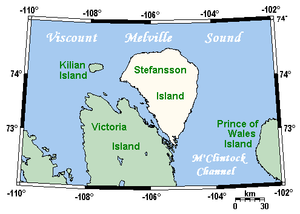 Stefansson Island - Stefansson Island and surrounding area