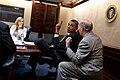 Stephanie Cutter, Barack Obama, Bill Daley.jpg
