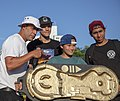 Steve Rodriguez, Cooper Qua, Jiro Platt, Nicholas Ramos at the 2019 Battle at the Beach - Far Rockaway Skatepark, Queens, NY.jpg