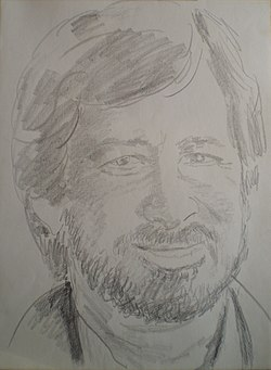 Steven Spielberg, drawing by Chaim Topol.JPG