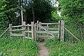 Stile where the Wayfarer's Walk crosses a restricted byway - geograph.org.uk - 439259.jpg