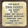 Stolperstein An der Ringmauer 134 Fabisch Emma